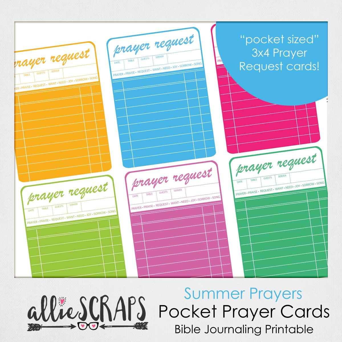 photo relating to Prayer Cards Printable named Summer season Prayers Pocket Prayers Card Printable